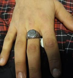 стоманен пръстен 13