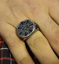 стоманен пръстен 17