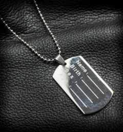 стоманен медальон 22